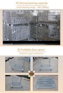 Dependable Performance Stainless Steel Wire Mesh Container with Wooden Pallet pictures & photos