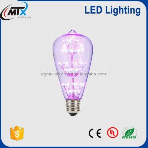 2700k E26 E27 Dimmable LED Filament Bulb Edison Bulb St64 2W 4W 6W 120V 230V/St64 pictures & photos