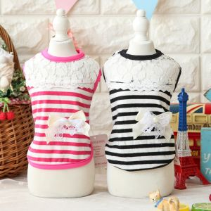 Stripes Fashion Lace Dog Shirt Cute Design Pet Clothes pictures & photos