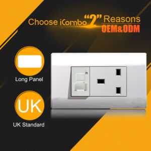 120 Type 13A Wall Socket and USB Charger White Color