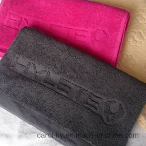 Cotton Color Custom Jacquard Woven Embossed Logo Hand Towel pictures & photos