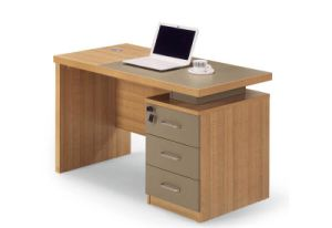 Hot Sale Simple Office Desk with 3 Drawers Cabinet pictures & photos