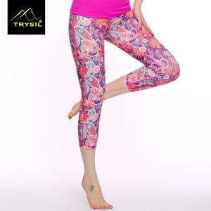 Colorful Printed Girls Fitness Capri Legging pictures & photos