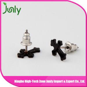 Black Latest Fashion Earrings Stud Plastic Cross Earrings pictures & photos