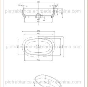Modern Counter Top Corian Stone Bathroom Basin (PB2108) pictures & photos