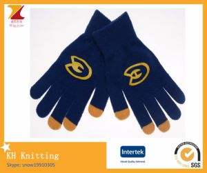 Offset Print Logo Touch Gloves pictures & photos