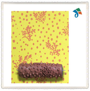 Wall Decoration Empaistic Flower Pattern Painting Roller with Plastic Handle pictures & photos