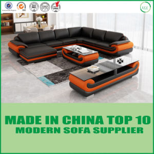 Living Room Furniture Corner Leather Modern Sofa pictures & photos