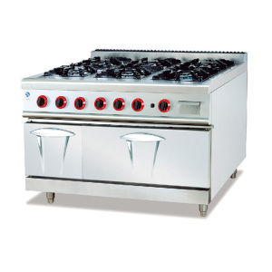 Stainless Steel Gas 4-Burner Range with Cabinet (LUR-890-4) pictures & photos