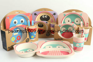 Eco-Friendly Kids Dinnerware Set Children Bowl and Plates Tableware Set pictures & photos