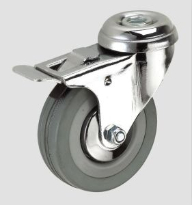 Gray Rubber Industry Caster with Whole Brake pictures & photos