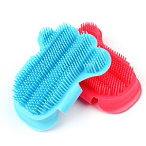 Pet Massage Bath Cleaning Gloves pictures & photos