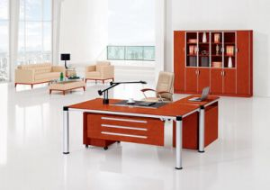 China Modern Office Furniture MFC Wooden MDF Office Table (NS-NW047) pictures & photos