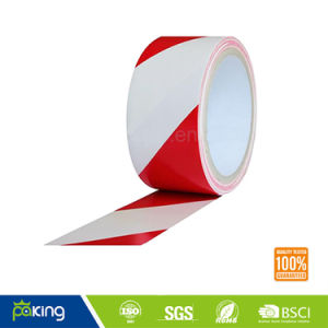 Red and White PVC Warning Tape with Competitive Price pictures & photos
