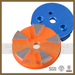 New Round Type Diamond Grinding Wheel for Concrete with 5 Segments pictures & photos