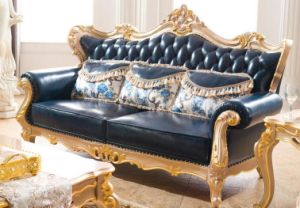 Modern Chesterfield Sofa Living Room Sofa with Genuine Leather Sofa pictures & photos