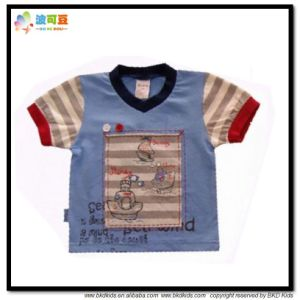 Summer Cotton Baby Clothes V Neck Kids Shirt pictures & photos
