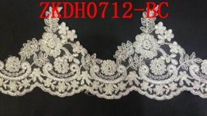 Rayon and Polyester Wedding Lace Trim From China Factory pictures & photos