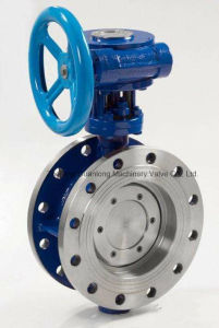 Flange End Metal Sealing Butterfly Valve (D343H) pictures & photos