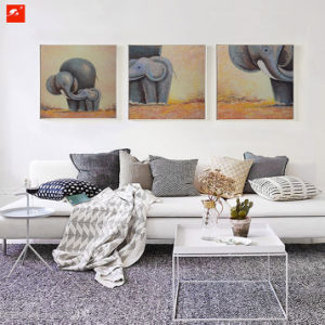 Cartoon Wildlife Baby Elephant Oil Painting pictures & photos