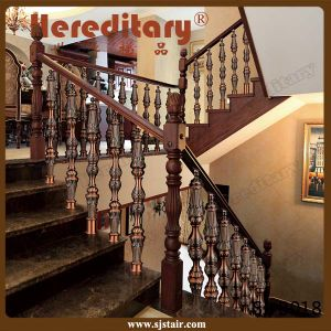 Indoor Cast Aluminium Staircase Railing Stair Handrail (SJ-B013) pictures & photos