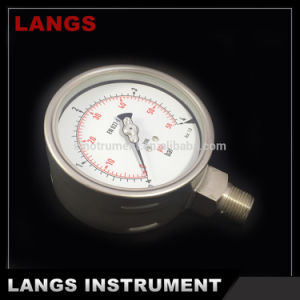 009 100mm W Type Ss Pressure Gauge pictures & photos