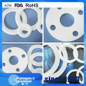 PTFE Filled Silica, Glass Fiber, Light Pink Color Gasket pictures & photos