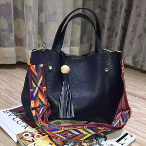 Colorful Shoulder Strap Ladies Handbags Genuine Leather Tote Bag Shopping Emg4591 pictures & photos
