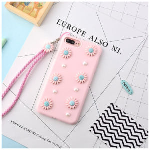 OEM 3D Flower Cute Korean Rubber Phone Housing Case for iPhone 7 Plus pictures & photos