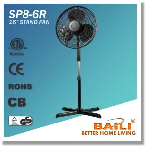 """Popular 16"""" Oscillating Stand Fan with Cross Base pictures & photos"""