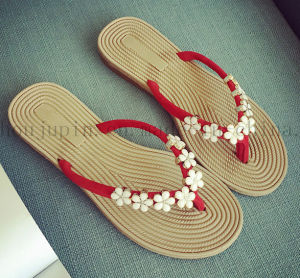Custom Casual Comfortable Rubber Women Slippers Flip Flop pictures & photos
