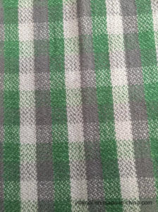 Stock Check Wool Fabric Green & Black Woollen Cloth pictures & photos