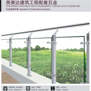 304 Stainless Steel Railing Balcony Guardrail Column pictures & photos
