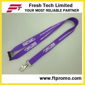 High Quality Chinese Polyester Lanyard with Logo pictures & photos