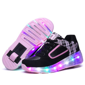2016 New! ! Hotsale! ! Kids Roller Skate Shoes Rechargeable LED Flashing Kids Shoes with Retractable Wheels Kids Sport Shoes pictures & photos