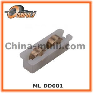 Plastic Bracket Double Gold Pulley for Window and Door (ML-DD001) pictures & photos
