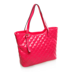 Embrodered Real Leather Handbag Lady Top Handle Tote Bag pictures & photos