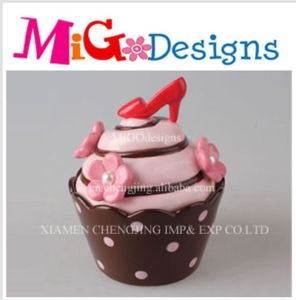 Stiletto Lid Gift Ceramic Icecream Cake Candy Canister pictures & photos