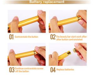 New Beauty Bar 24k Golden Pulse Skin Care Facial Roller Massager Machine pictures & photos