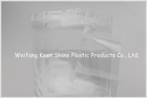 Transparent LDPE Small Zip Lock Plastic Bags for Medical with White Panel and Red Line pictures & photos