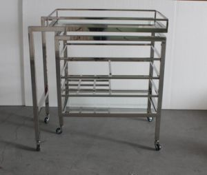 Luxury Bar Furniture Stainless Steel Trolley, Wine Cart pictures & photos