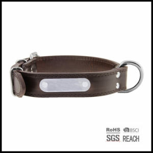 Strong Durable Brown Leather Pet Collar for Big Dogs pictures & photos