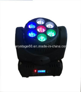 7X10W RGBW 4-in-1 LED Stage Effect Light Beam Moving Heads pictures & photos