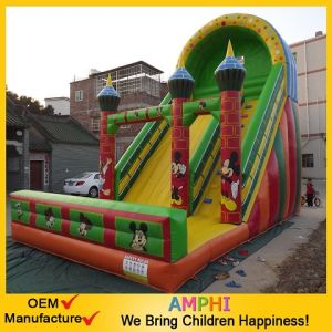Cheap Inflatable Mickeymouse Slide Outdoor Slide for Children