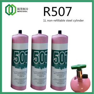 Gmcool R507 Refrigerant in 1L Refillable Steel Cylinder From Manufacturer pictures & photos