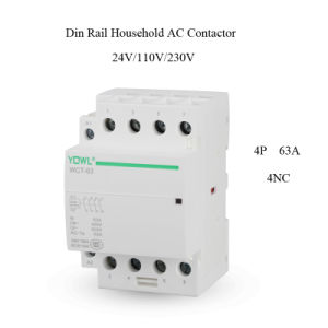 4p 63A Ict Household DIN Rail AC Contactor pictures & photos
