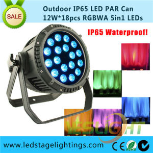 RGBWA LED Professional Light 18PCS*12W 5in1 LEDs for Outdoor Using IP65 pictures & photos