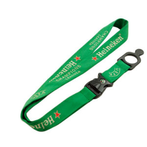 Promotional Computer Woven Logo Nylon Neck Lanyard for Hospital pictures & photos
