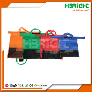 Wholesale Nonwovens Supermarket Reusable Foldable Folding Shopping Cart Trolley Bag pictures & photos