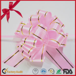 Holiday Decoration Golden Edges POM POM Pull Bow pictures & photos